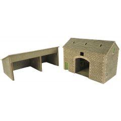 Model kit OO/HO: Manor farm barn - Metcalfe - PO251