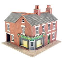 Model kit OO/HO: Corner shop red brick - Metcalfe - PO263
