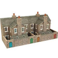 Model kit OO/HO: Low relief terraced house backs - stone - Metcalfe - PO277