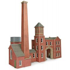 Model kit OO/HO: Factory entrance and boiler house - Metcalfe - PO284