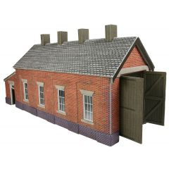Model kit OO/HO: single track Engine shed - red brick - Metcalfe - PO331