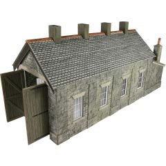 Model kit OO/HO: single track Engine shed - stone - Metcalfe - PO332