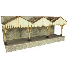 Model kit OO/HO: Wall backed Platform canopy - Metcalfe - PO341