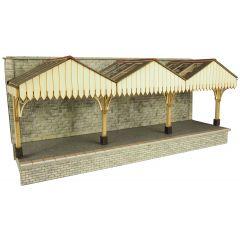 Model kit OO/HO: Wall backed Platform canopy - Metcalfe - PO341