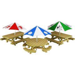 Model kit OO/HO: Picnic tables - Metcalfe - PO510