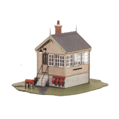 Model kit OO: Platform / ground level Signal box