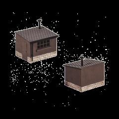 Model kit OO: 2 Wooden lineside huts