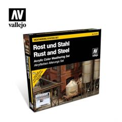 weatering system set rust and steel - Vallejo Model Color  -  Acrylic Paint