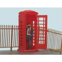 Telephone box with caller - OO scale