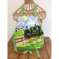 Childrens apron Alex Clark - steam train