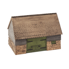 Model kit OO: stone and timber barn