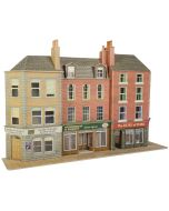 Model kit OO/HO: Low relief Pub and shops - Metcalfe - PO205