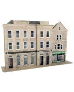 Model kit OO/HO: Low relief bank and shop - Metcalfe - PO271